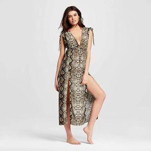 ViX MAR snake boho maxi dress swim bikini cover up